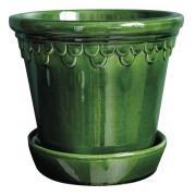 Köpenhavner Kruka/Fat 21 cm Grön emerald
