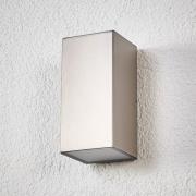 LED-utomhusvägglampa Jana stål 16 x 8 cm
